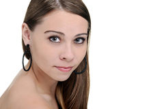 Headshot of a teenager brunette Royalty Free Stock Photo
