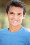 Headshot of a teenager smiling Stock Photo