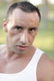 Headshot of a tough male Royalty Free Stock Photo