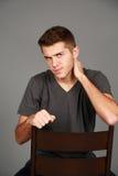 Headshot of tough older teen boy Royalty Free Stock Photography