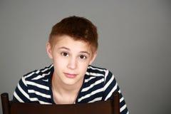 Headshot of tween boy Stock Image