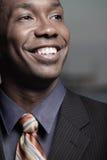 Headshot van een glimlachende zakenman royalty-vrije stock foto's
