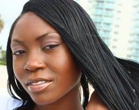 Headshot van een Jonge Vrouw Stock Fotografie