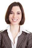 Headshot van glimlachende bedrijfsvrouw stock fotografie