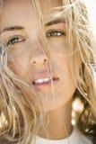 Headshot of woman. Stock Photos