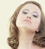 Headshot of a woman with makeup Royalty Free Stock Photography