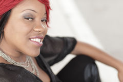 Headshot of a woman with red hair Royalty Free Stock Images