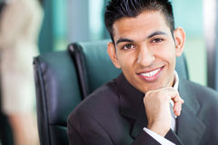 Headshot of young Arabian businessman Stock Images