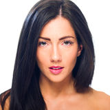 Headshot of a young, beautiful Caucasian female Stock Photos