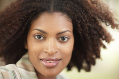 Headshot of a young black woman Royalty Free Stock Image