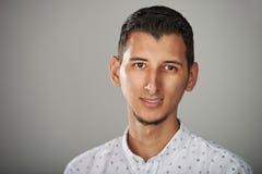 Headshot of young hispanic man. Close up royalty free stock photo