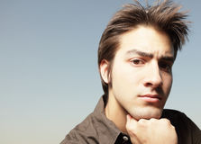 Headshot of a young male Royalty Free Stock Image