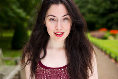 Headshot of a young woman Royalty Free Stock Photography