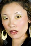 headshotjapankvinna arkivbilder