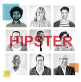 Headshots of People Labeled as Hipster Stock Photography
