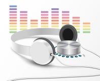 Headsphones e controler 2 do volume Imagens de Stock