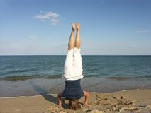 Headstand Images libres de droits