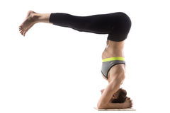 Headstand Half Fold Royalty Free Stock Images