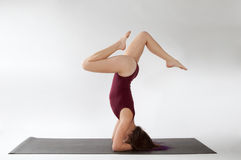 Headstand Pose Variation Stock Photo