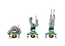 Headstand prennent trois Photo libre de droits