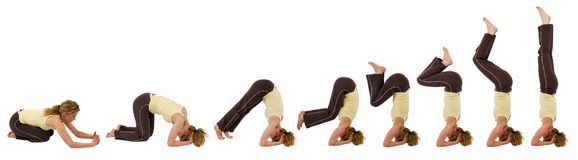 Headstand_sequence Lizenzfreies Stockfoto