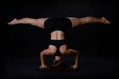 Headstand and Splits Royalty Free Stock Photography