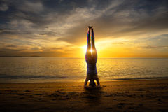 Headstand Royalty Free Stock Images
