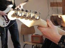 headstock электрической гитары стоковое изображение