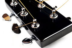 Headstock of acoustic guitar Stock Photo