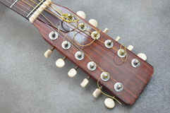 Headstock acoustic guitar Royalty Free Stock Image