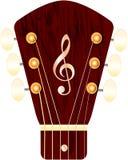 Headstock av en gitarr Royaltyfria Bilder