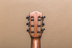 Headstock of a classical guitar bottom view Royalty Free Stock Photo