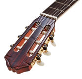 Headstock of classical guitar close up Stock Photo