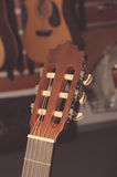 Headstock of classical guitar Stock Photography