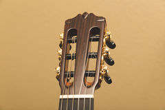 Headstock of a classical guitar top front view Stock Image