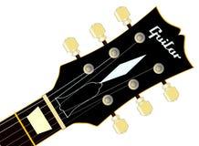 Headstock da guitarra Imagem de Stock