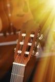 Headstock da guitarra clássica Imagens de Stock