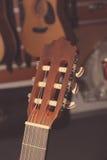 Headstock da guitarra clássica Fotografia de Stock