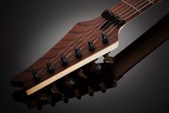 Headstock da guitarra elétrica Imagens de Stock