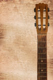 headstock das guitarra acústicas que inclui Pegs de ajustamento Foto de Stock Royalty Free