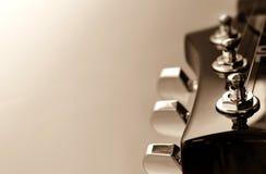 Headstock för elektrisk gitarr Arkivbilder