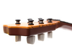 Headstock of the guitar. Over white background Royalty Free Stock Image