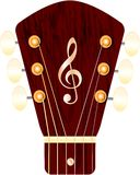 Headstock of a guitar Royalty Free Stock Images