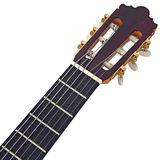 Headstock guitar with tuning-pegs, close view Royalty Free Stock Photos