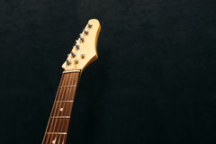 Headstock of the six string electric guitar Royalty Free Stock Photos