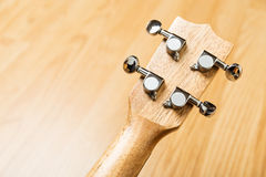 Headstock of Ukulele Hawaiian Guitar Stock Images