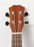 Headstock of Ukulele Hawaiian Guitar Stock Images