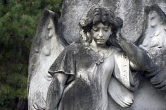 headstone крупного плана ангела Стоковые Фото