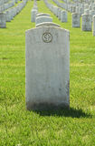 Headstone. Blank Headstone in military cemetery stock image