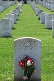 Headstone. Blank Headstone in military cemetery stock photos